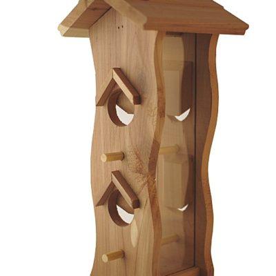 karmnik z zasobnikiem drewniany pionowy Semini