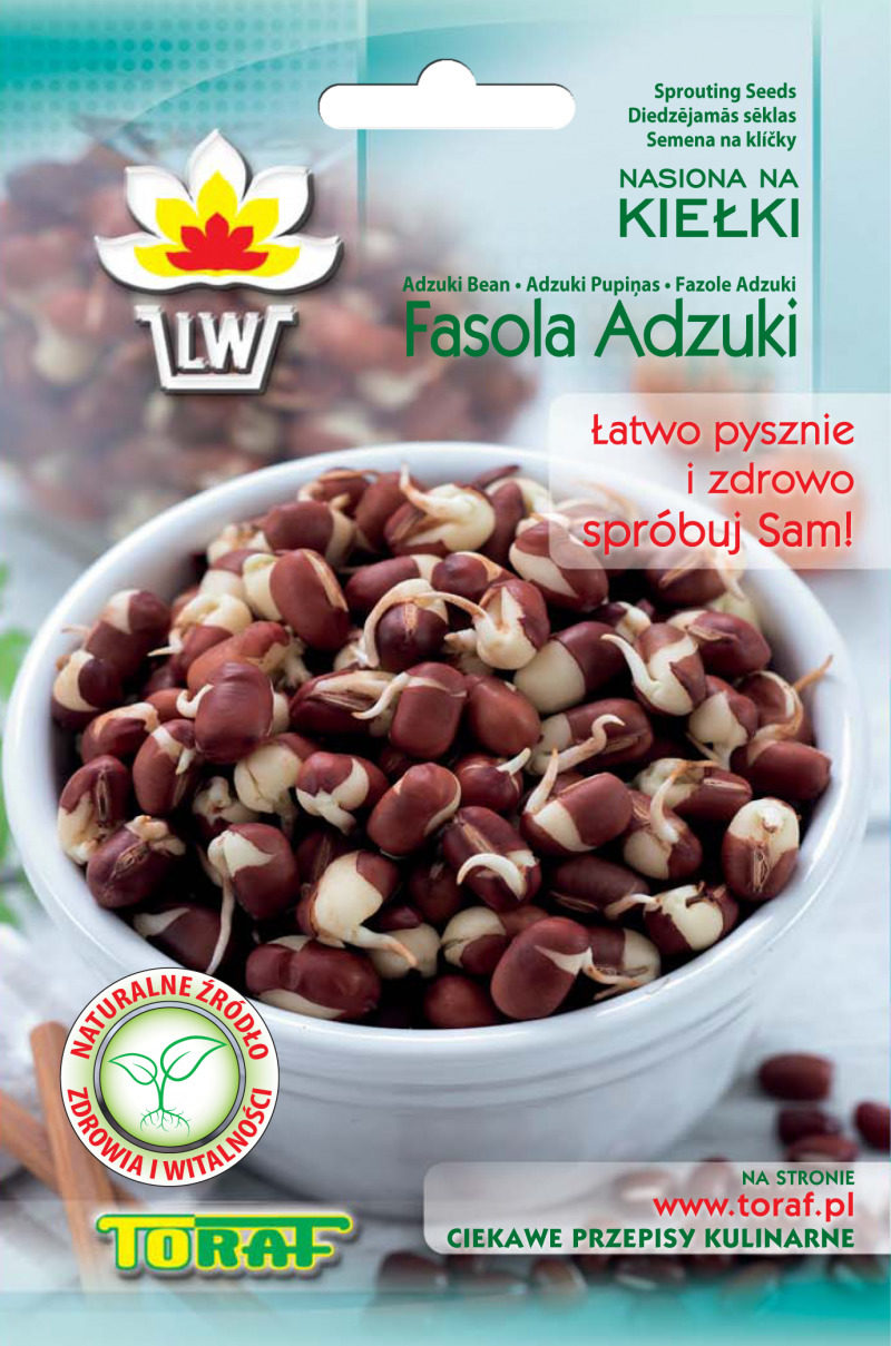 Fasola Adzuki nasiona na kiełki Toraf torebka