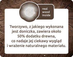 Doniczka z ekologicznego tworzywa z drewnem
