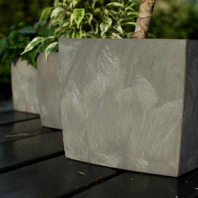 Doniczka Square Marble 5,2l z tworzywa z recyklingu