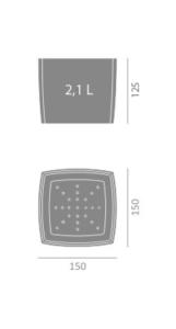 Doniczka Square Marble wymiary