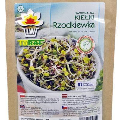 Rzodkiewka nasiona na kiełki w dużym opakowaniu