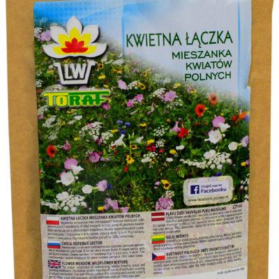 Mieszanka kwiatów polnych i łąkowych kwietna łączka 100g w ekologicznym opakowaniu