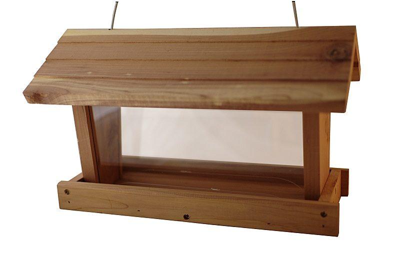 Karmnik drewniany poziomy z zasobnikiem Semini