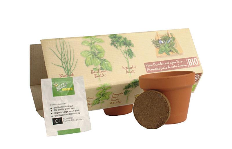 zioła BIO zestaw do samodzielnej uprawy w domu i na balkonie