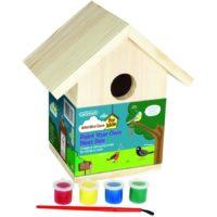 Domek dla ptaków do malowania dla dzieci