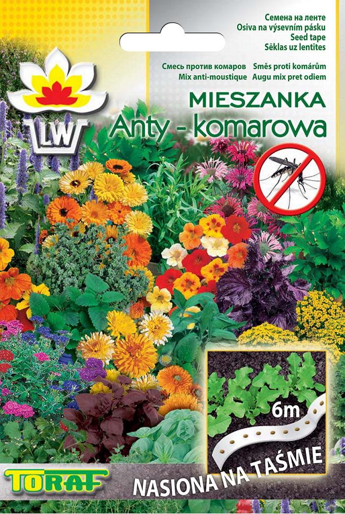 Rośliny antykomarowe nasiona na taśmie