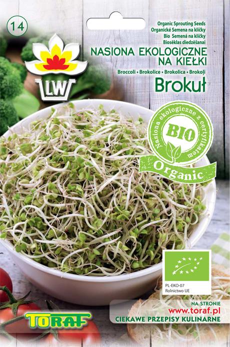 Brokuł ekologiczne nasiona na kiełki bio organic