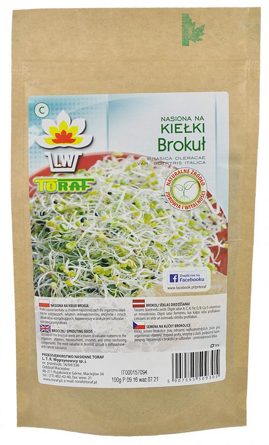 Brokuł nasiona na kiełki w dużym opakowaniu