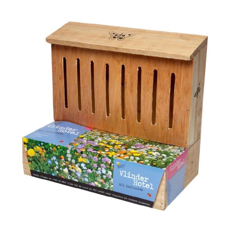schronienie dla gąsienic motyli z łąką kwietną do uprawy z nasion z podłożem i nasionami ekologiczny naturalny