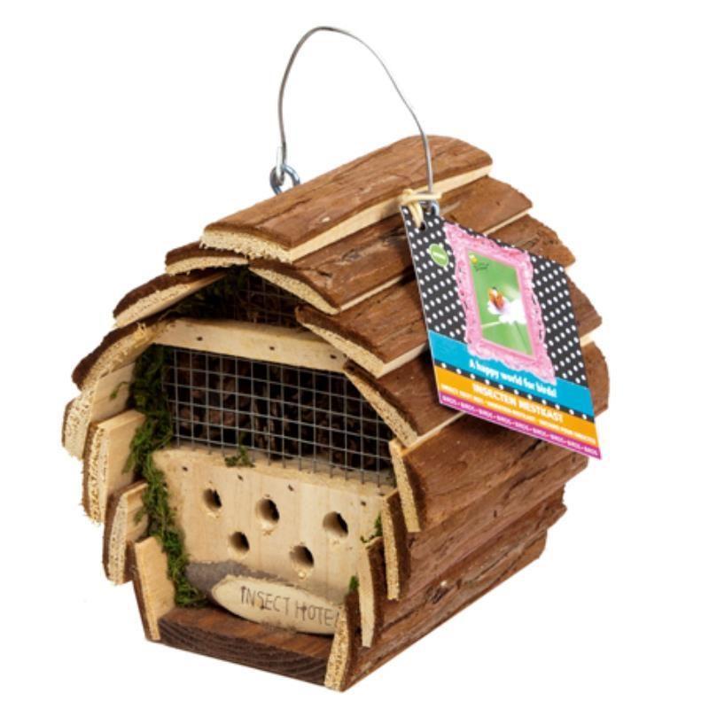 domek dla owadów, hotel dla skorków, biedronek, złotooków kilka poziomów, naturalny i ekologiczny