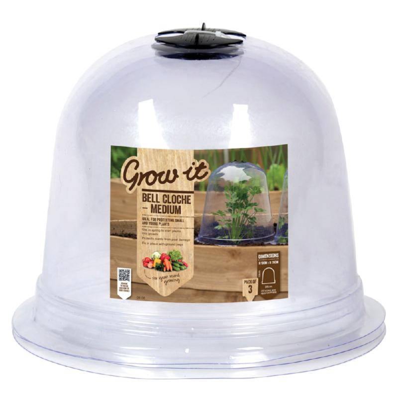 Przezroczysty dzwon ochronny z wentylacją wywietrznikiem do przykrywania wrażliwych roślin ochrona przed przymrozkami, ślimakami i szkodnikami