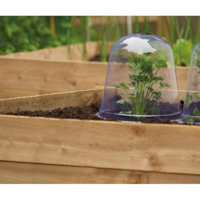 Przezroczysty dzwon z wywietrznikiem do przykrywania wrażliwych roślin ochrona przed przymrozkami, ślimakami i szkodnikami