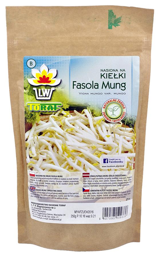 Fasola Mung nasiona na kiełki w dużym opakowaniu