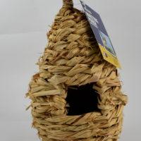 Gniazdko ptasie, budka lęgowa z trzcinypleciona