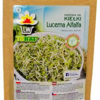 Lucerna nasiona na kiełki w dużym opakowaniu 100g opakowanie ekologiczne