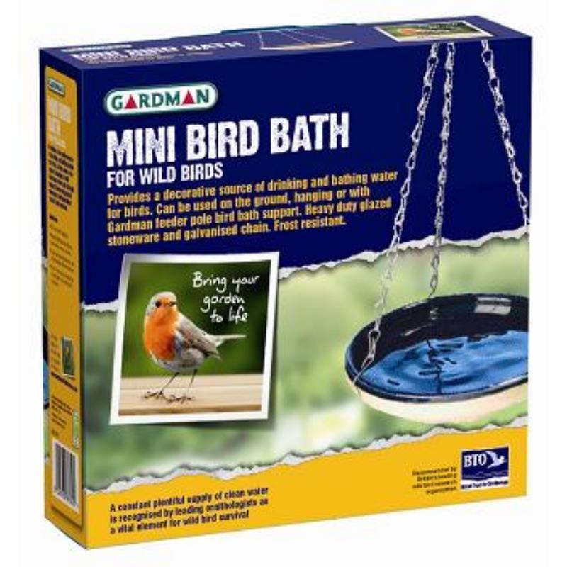 Poidełko ceramiczne dla ptaków na lato do powieszenia w ogrodzie na balkonie lub tarasie