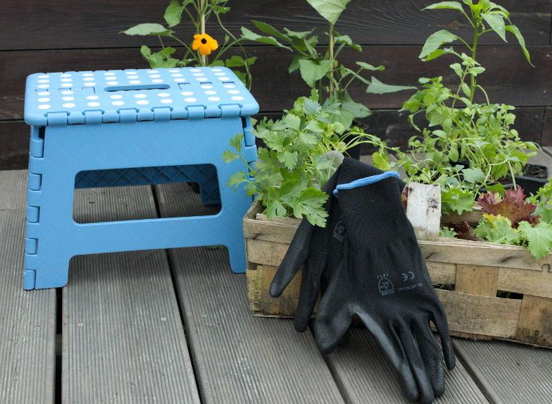 Rękawice do pracy w ziemi czarne do sadzenia i odchwaszczania