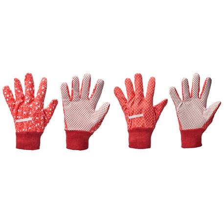 Rękawice nakrapiane do ogrodu 2 pary