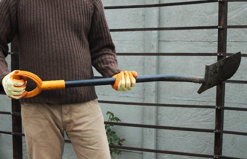 Rękawice lateksowe norma EN388 ze szpadlem