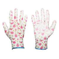 rękawice ogrodowe w kwiatki