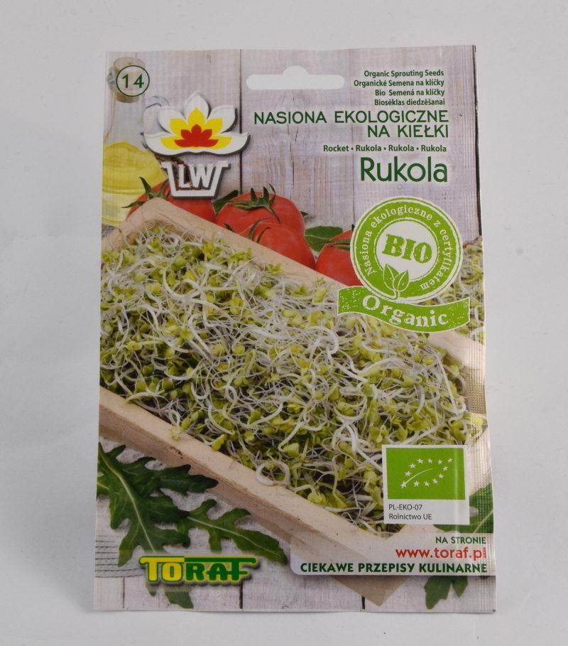 Rukola ekologiczne nasiona na kiełki