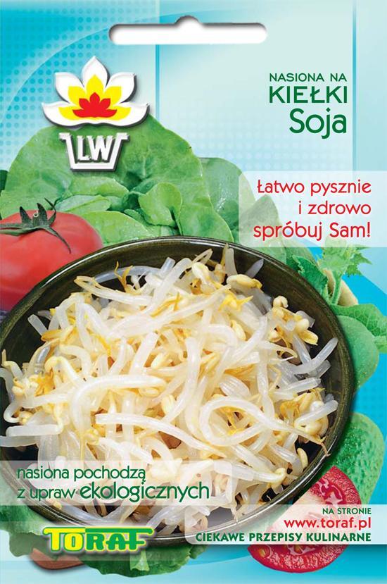 Soja nasiona na kiełki Toraf opakowanie