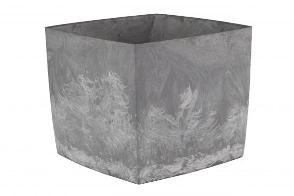 Doniczka Square Marble pojemność 3,1l tworzywo z recyklingu kolor popiel