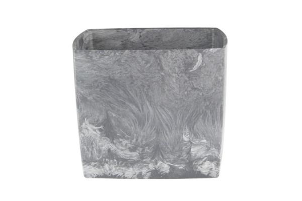 Doniczka square marble 150 pojemność 2,1l tworzywo z recyklingu kolor popiel