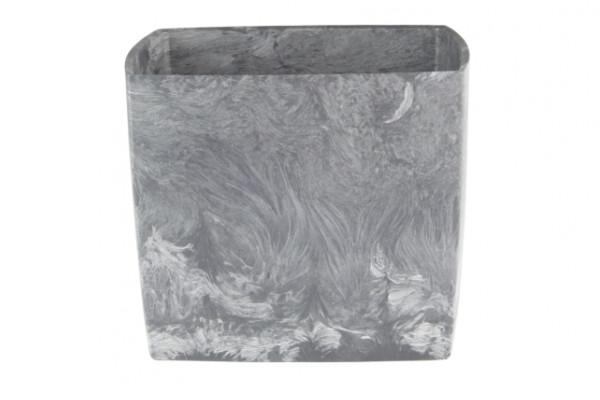 Doniczka square marble 170 pojemność 3,1l tworzywo z recyklingu kolor popiel