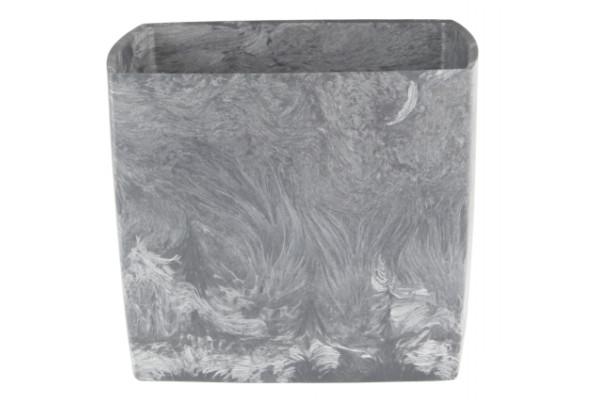 Doniczka square marble 200 pojemność 5,2l tworzywo z recyklingu kolor popiel