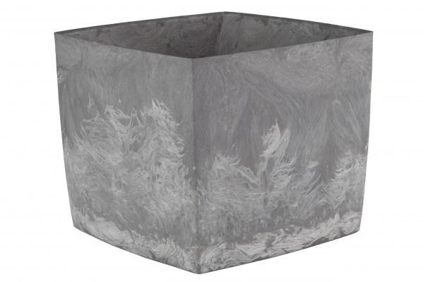 doniczka sqare marble 200 pojemność 5,2l, pochodzi z recykling, kolor popielu