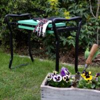 krzesło ogrodowe klęcznik ogrodowy ławka ogrodowa