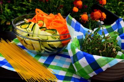produkty do spaghetti z kiełkami bio