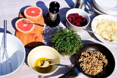 produkty do sałatki z gorczycy