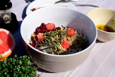 gotowa sałatka z gorczycy