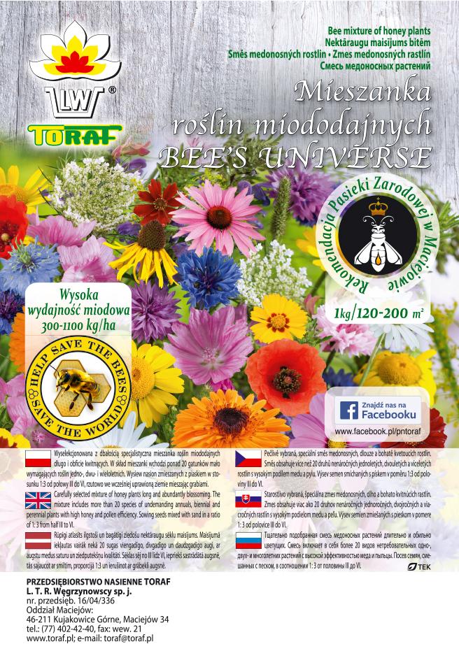 nasiona roślin miododajnych etykieta