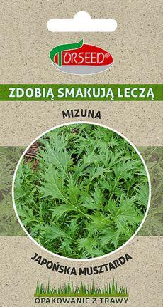 mizuna japońska musztarda nasiona ekologiczne