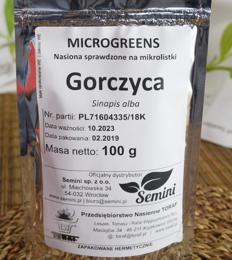 Gorczyca na mikroliście