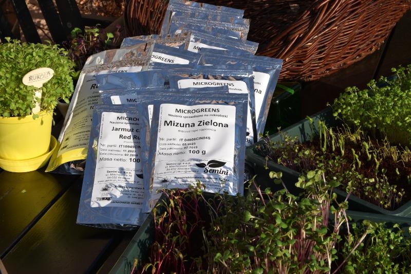 Nasiona na mikroliście duże opakowania