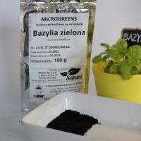 Bazylia zielona na mikroliście