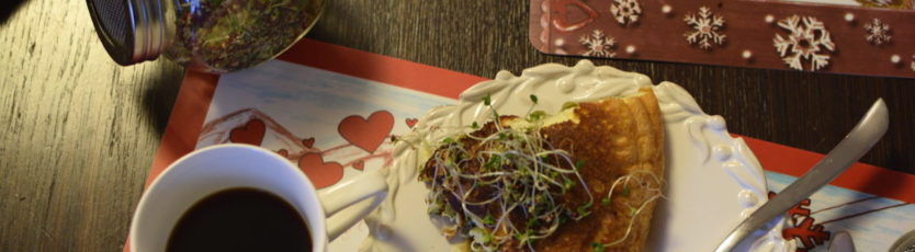 Omlet z kiełkami brokuła 2