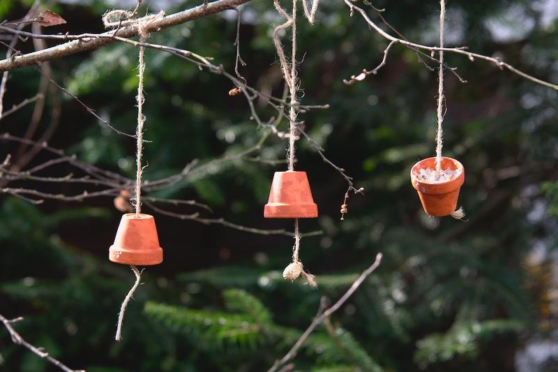 Doniczki z łojem dla ptaków
