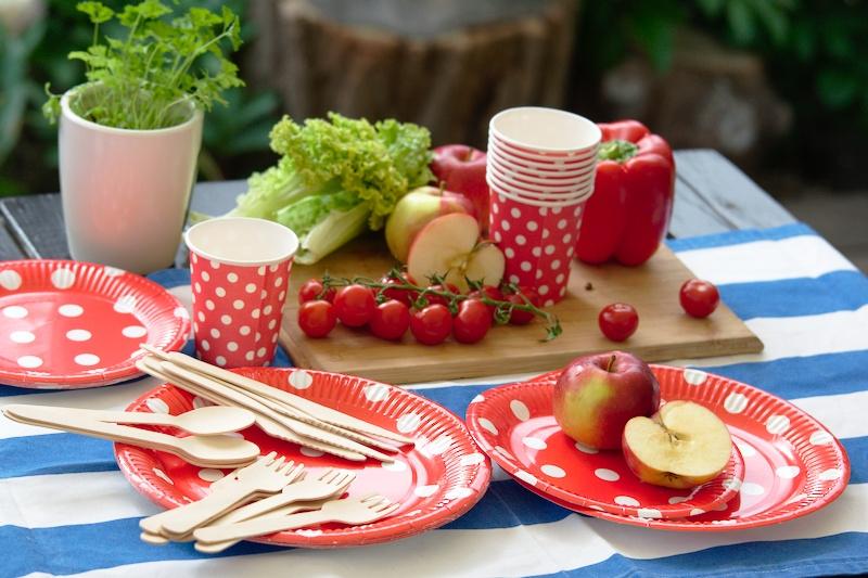 Papierowe naczynia na piknik