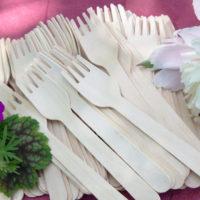 Drewniane widelce z drewna brzozowego