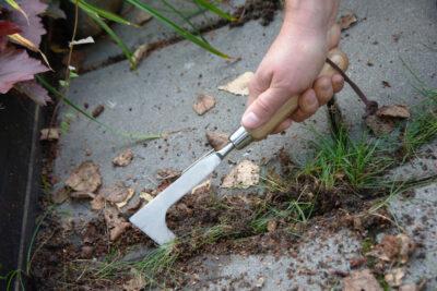 Nóż do usuwania chwastów ze szczelin