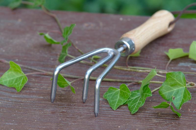 Pazurki ogrodnicze angielskie ze stali z drewnianym uchwytem 1