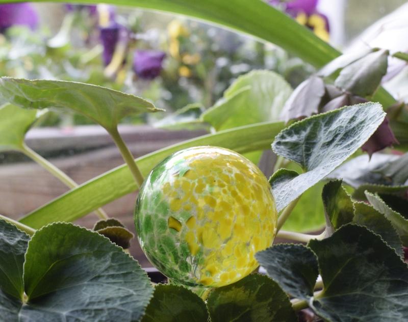 Szklana kula do nawadniania kwiatków