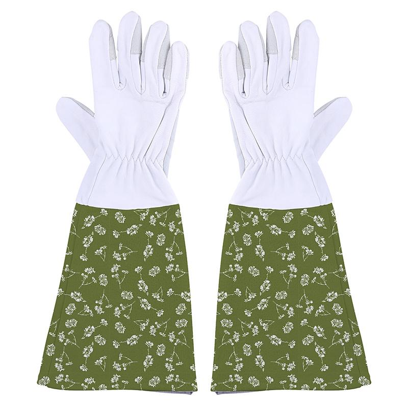Skórzane rękawice do róż