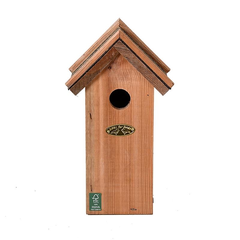 Budka dla ptaków z daszkiem z papy 2